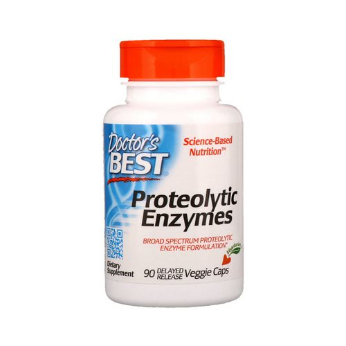 Doctor's Best, Proteolytic Enzymes, 90 Delayed Release Veggie Caps Review