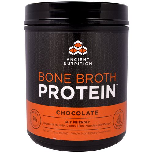 Dr. Axe / Ancient Nutrition, Bone Broth Protein, Chocolate, 17.8 oz (504 g) Review