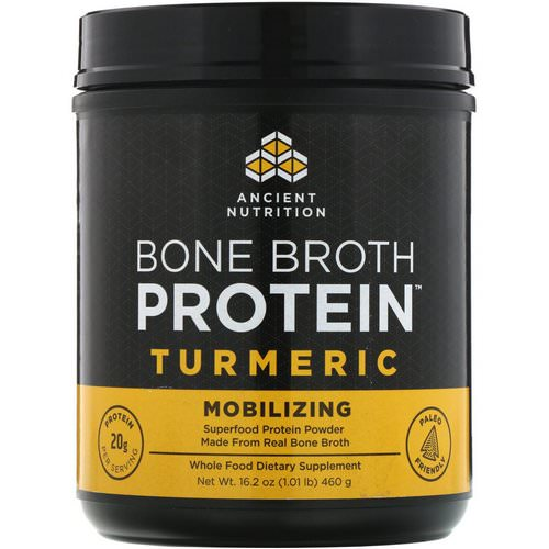 Dr. Axe / Ancient Nutrition, Bone Broth Protein, Turmeric, 16.2 oz (460 g) Review
