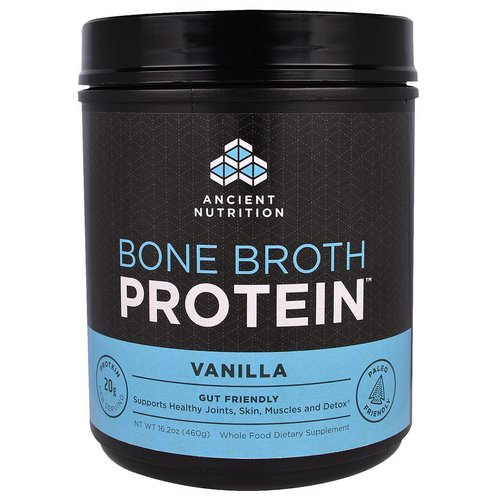 Dr. Axe / Ancient Nutrition, Bone Broth Protein, Vanilla, 16.2 oz (460 g) Review