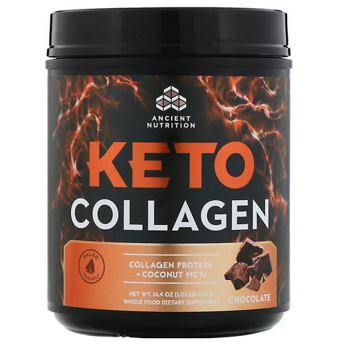 Dr. Axe / Ancient Nutrition, Keto Collagen, Collagen Protein + Coconut MCTs, Chocolate, 16.4 oz (460 g) Review