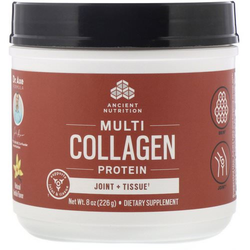 Dr. Axe / Ancient Nutrition, Multi Collagen Protein, Joint + Tissue, Natural Vanilla, 8 oz (226 g) Review