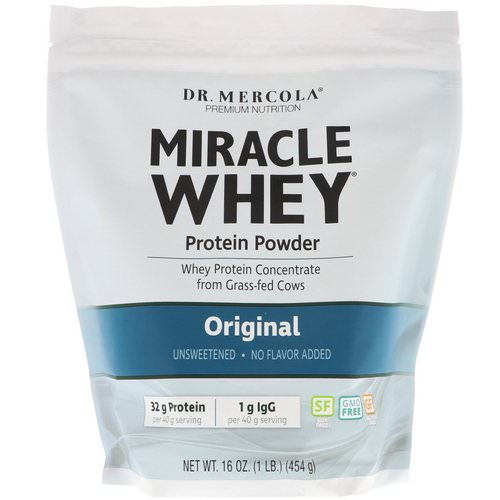 Dr. Mercola, Miracle Whey Protein Powder, Original, 16 oz (454 g) Review