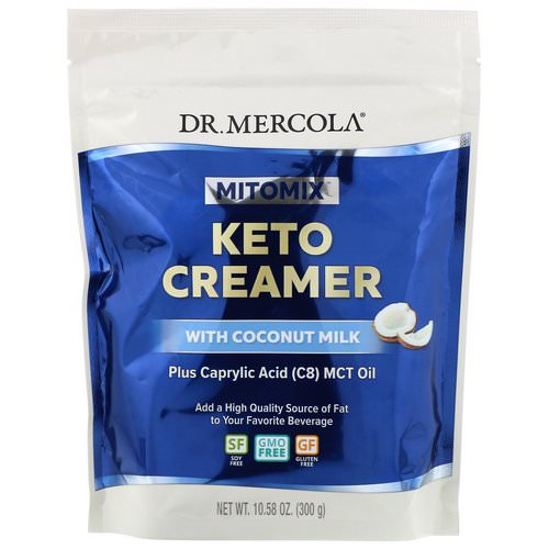Dr. Mercola, Mitomix, Keto Creamer with Coconut Milk, 10.58 oz (300 g) Review