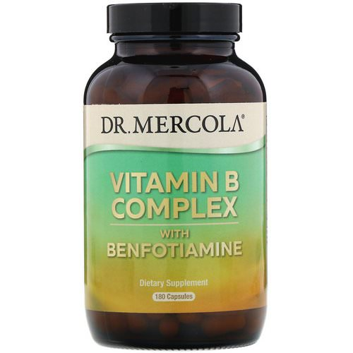 Dr. Mercola, Vitamin B Complex with Benfotiamine, 180 Capsules Review