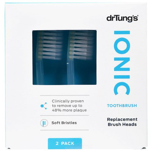 Dr. Tung's, Ionic Toothbrush, Replacement Brush Heads, Soft Bristles, 2 Pack Review