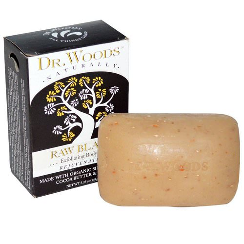 Dr. Woods, Shea Butter Soap, Raw Black, 5.25 oz (149 g) Review