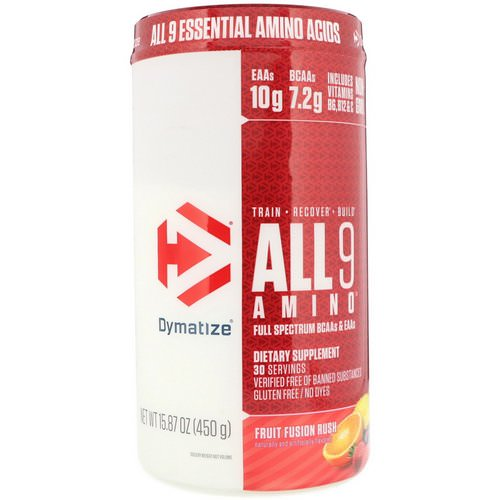 Dymatize Nutrition, All 9 Amino, Fruit Fusion Rush, 15.87 (450 g) Review