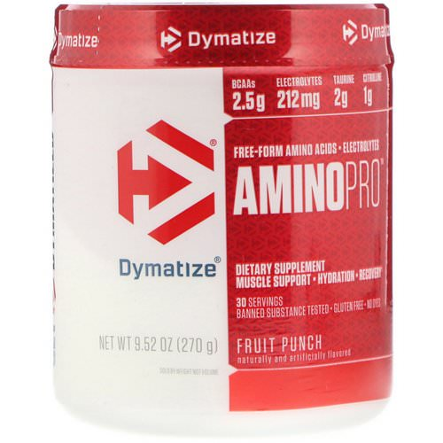 Dymatize Nutrition, AminoPro, Fruit Punch, 9.52 oz (270 g) Review