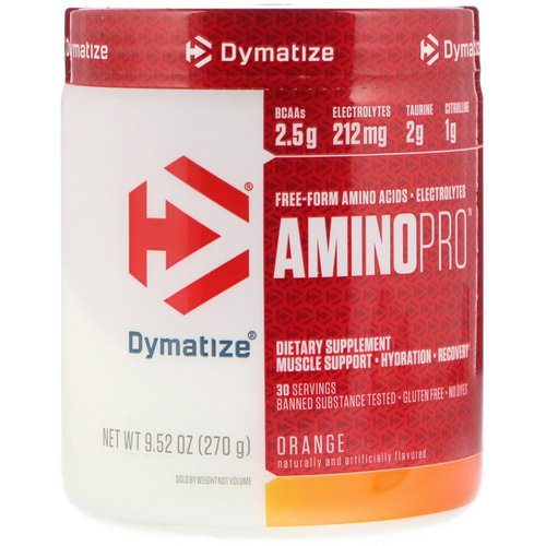 Dymatize Nutrition, AminoPro, Orange, 9.52 oz (270 g) Review