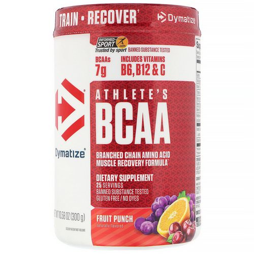 Dymatize Nutrition, Athlete's BCAA, Fruit Punch, 10.58 oz (300 g) Review