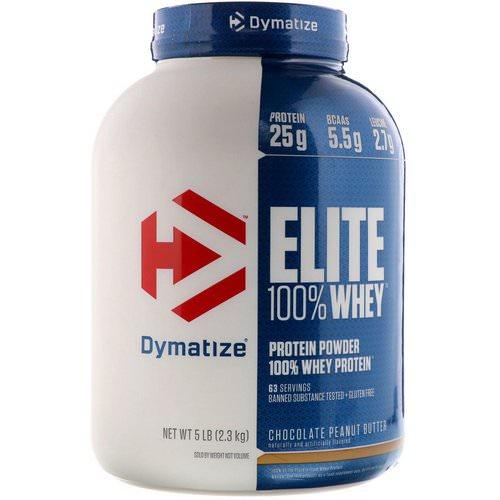 Dymatize Nutrition, Elite 100% Whey Protein Powder, Chocolate Peanut Butter, 5 lb (2.3 kg) Review