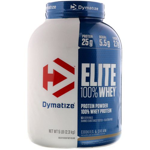 Dymatize Nutrition, Elite 100% Whey Protein Powder, Cookies & Cream, 5 lbs (2.3 kg) Review