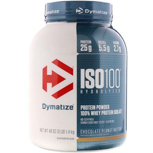 Dymatize Nutrition, ISO 100 Hydrolyzed, 100% Whey Protein Isolate, Chocolate Peanut Butter, 3 lb (1.4 kg) Review