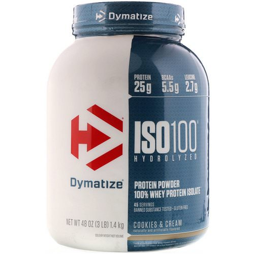 Dymatize Nutrition, ISO 100 Hydrolyzed 100% Whey Protein Isolate, Cookies & Cream, 3 lbs (1.36 kg) Review