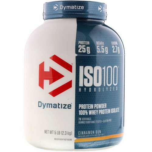 Dymatize Nutrition, ISO100 Hydrolyzed, 100% Whey Protein Isolate, Cinnamon Bun, 5 lbs (2.3 kg) Review