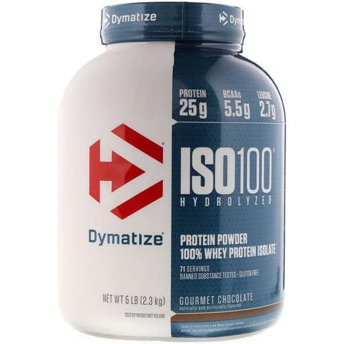 Dymatize Nutrition, ISO100 Hydrolyzed, 100% Whey Protein Isolate, Gourmet Chocolate, 5 lb (2.3 kg) Review