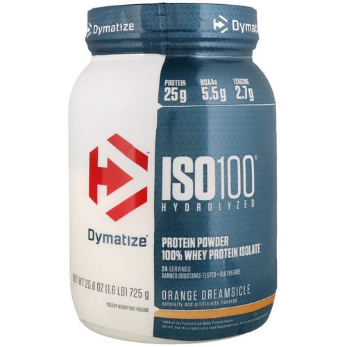 Dymatize Nutrition, ISO100 Hydrolyzed, 100% Whey Protein Isolate, Orange Dreamsicle, 1.6 lbs (725 g) Review