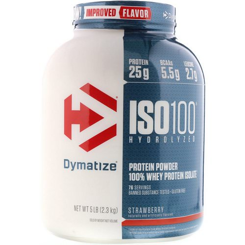 Dymatize Nutrition, ISO100 Hydrolyzed, 100% Whey Protein Isolate, Strawberry, 5 lbs (2.3 kg) Review