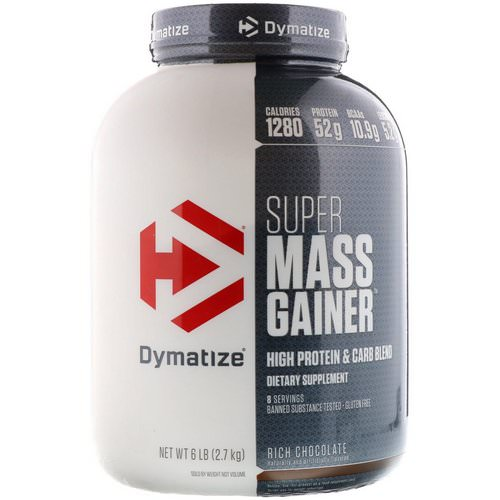 Dymatize Nutrition, Super Mass Gainer, Rich Chocolate, 6 lbs (2.7 kg) Review