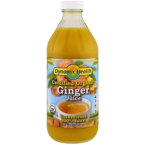 Dynamic Health Laboratories, Certified Organic Ginger, 100% Juice, Unsweetened, 16 fl oz (473 ml) Review