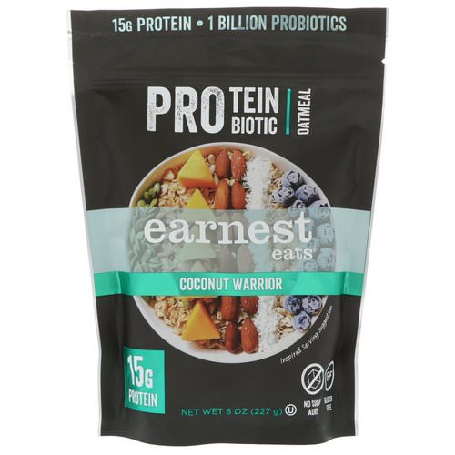 Earnest Eats, Protein Probiotic Oatmeal, Coconut Warrior, 8 oz (227 g) Review