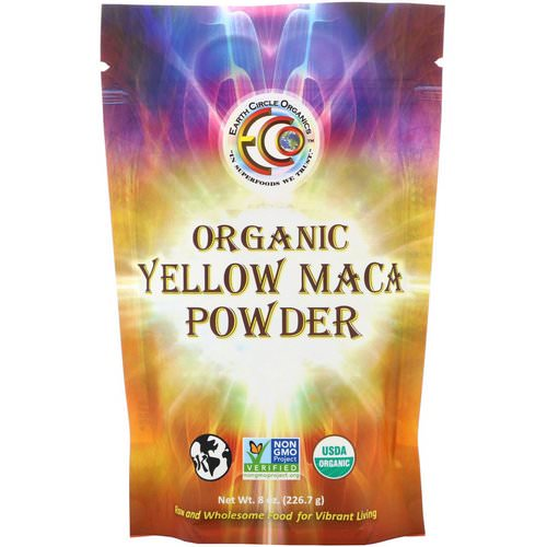 Earth Circle Organics, Organic Yellow Maca Powder, 8 oz (226.7 g) Review