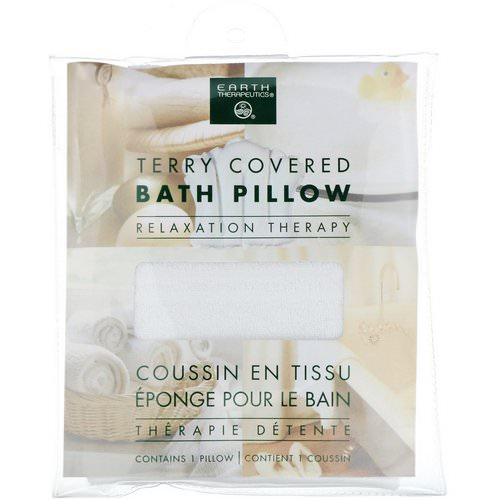 Earth Therapeutics, Terry Covered Bath Pillow, Relaxation Therapy, 1 Pillow Review