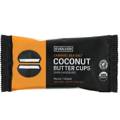 Evolved Chocolate, Dark Chocolate, Coconut Butter Cups, Caramel Sea Salt, Two Cups, 1.5 oz (42 g) Review
