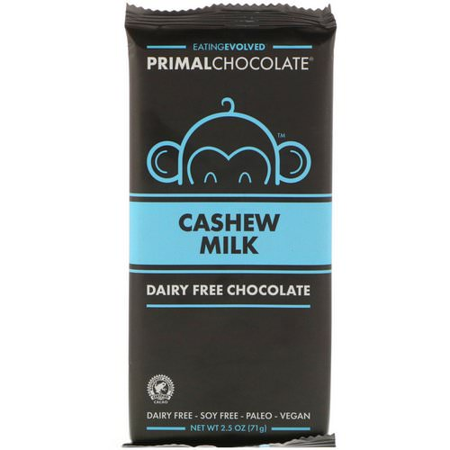 Evolved Chocolate, Primal Chocolate, Cashew Milk, 2.5 oz (71 g) Review
