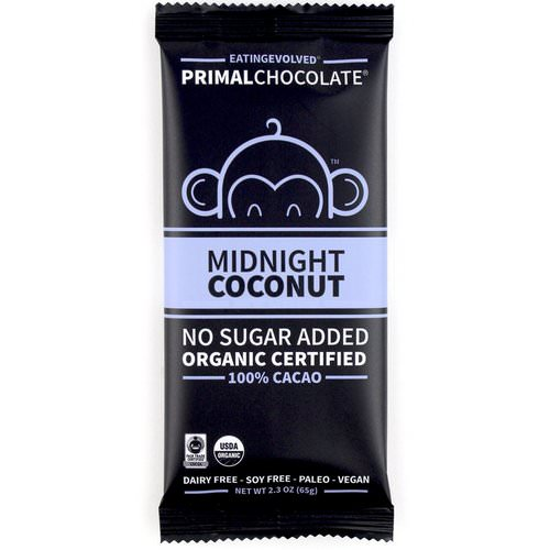 Evolved Chocolate, PrimalChocolate, Midnight Coconut 100% Cacao, 2.3 oz (65 g) Review