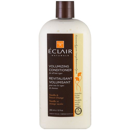 Eclair Naturals, Volumizing Conditioner, Vanilla & Sweet Orange, 12 fl oz (355 ml) Review