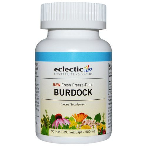 Eclectic Institute, Burdock, Raw, 500 mg, 90 Non-GMO Veggie Caps Review