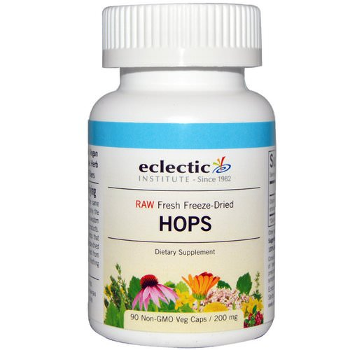 Eclectic Institute, Hops, 200 mg, 90 Non-GMO Veggie Caps Review