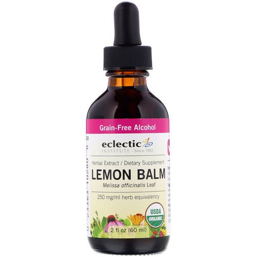 Eclectic Institute, Organic Lemon Balm, 2 fl oz (60 ml) Review