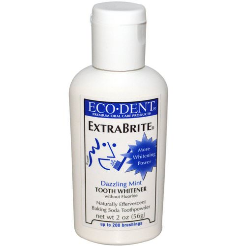 Eco-Dent, ExtraBrite, Dazzling Mint, Tooth Whitener, Without Fluoride, 2 oz (56 g) Review