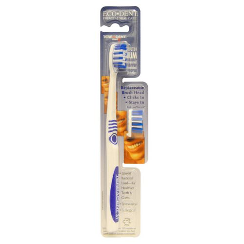 Eco-Dent, Terradent Med5, Adult 31, Medium, 1 Toothbrush, 1 Spare Brush Head Review