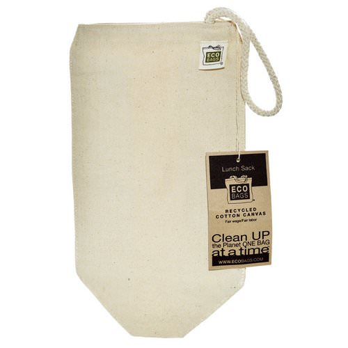 ECOBAGS, Recycled Cotton Canvas Lunch Sack, 1 Bag, 7