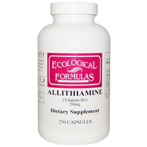 Ecological Formulas, Allithiamine (Vitamin B1), 50 mg, 250 Capsules Review