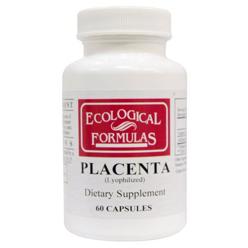Ecological Formulas, Placenta (Lyophilized), 60 Capsules Review