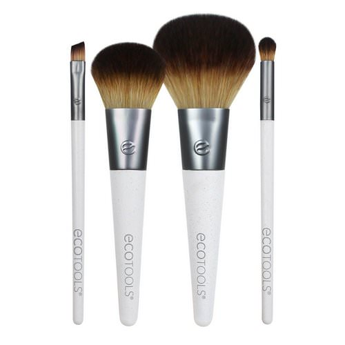 EcoTools, On The Go Style Brush Set, 4 Piece Set & Dual Pocket Case Review