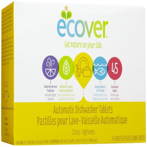 Ecover, Automatic Dishwasher Tablets, Citrus Scent, 45 Tablets, 31.7 oz (0.9 kg) Review