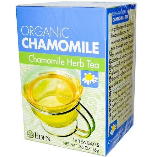 Eden Foods, Organic, Chamomile Herb Tea, 16 Tea Bags, .56 oz (16 g) Review