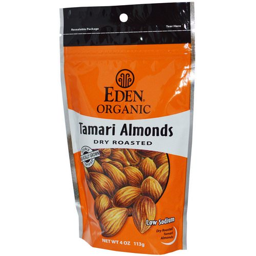 Eden Foods, Organic Tamari Almonds, Dry Roasted, 4 oz (113 g) Review