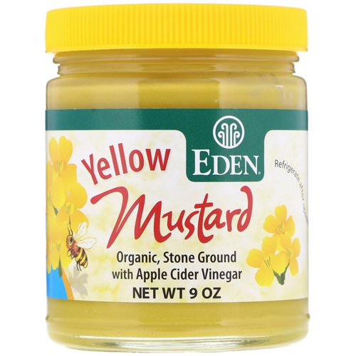 Eden Foods, Yellow Mustard, 9 oz Review