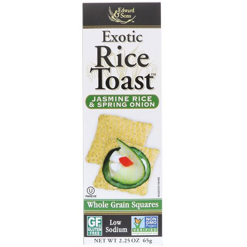 Edward & Sons, Exotic Rice Toast, Whole Grain Squares, Jasmine Rice & Spring Onion, 2.25 oz (65 g) Review