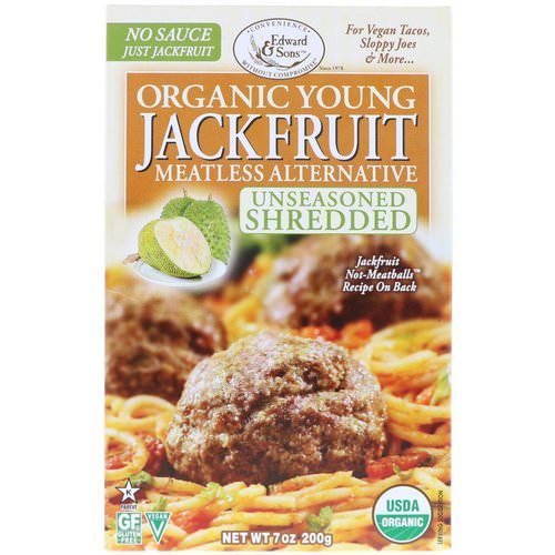 Edward & Sons, Organic Young Jackfruit, Unseasoned Shredded, 7 oz (200 g) Review