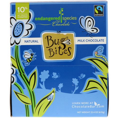 Endangered Species Chocolate, Bug Bites, Natural Milk Chocolate, 22.4 oz (635 g) Review