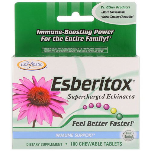 Nature's Way, Esberitox, Supercharged Echinacea, Immune Support, 100 Chewable Tablets Review