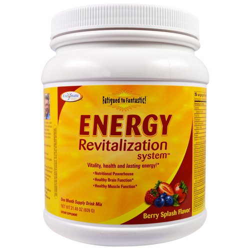 Enzymatic Therapy, Fatigued to Fantastic! Energy Revitalization System, Berry Splash Flavor, 1.3 lbs (609 g) Review